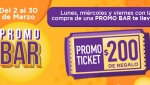 Promo Bar + promoticket de regalo!